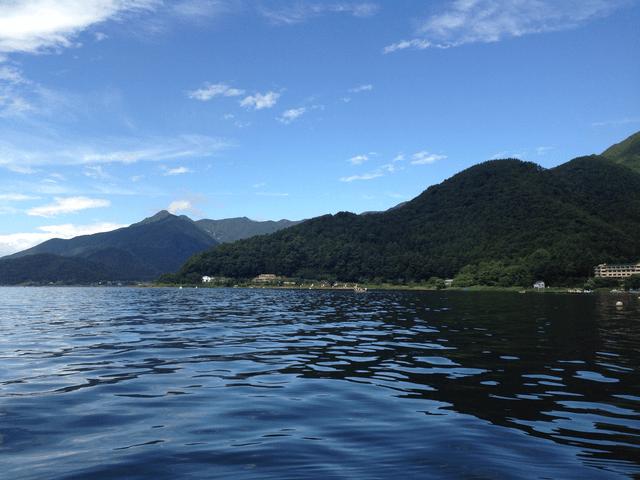 写真:夏の河口湖畔の風景